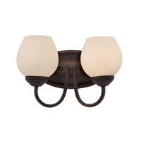 Trans Globe Clarissa 2 Light Bath Bar in Rubbed Oil Bronze 70532-ROB