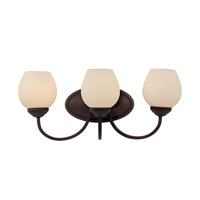 Signature 3 Light 21 inch Rubbed Oil Bronze Vanity Light Wall Light