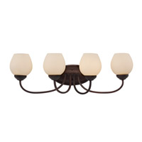 Signature 4 Light 29 inch Rubbed Oil Bronze Vanity Light Wall Light
