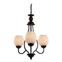Trans Globe Clarissa 3 Light Chandelier in Rubbed Oil Bronze 70536-ROB