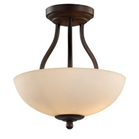 Signature 2 Light 14 inch Rubbed Oil Bronze Semi-Flush Mount Ceiling Light