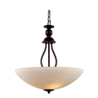 Signature 3 Light 20 inch Rubbed Oil Bronze Pendant Ceiling Light