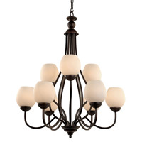 Trans Globe Signature 9 Light Chandelier in Rubbed Oil Bronze 70539-ROB