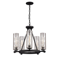Trans Globe Clarissa 5 Light Chandelier in Matte Black 70585