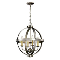 Signature 4 Light 19 inch Brushed Nickel Pendant Ceiling Light