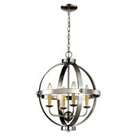 Signature 4 Light 19 inch Polished Chrome Pendant Ceiling Light