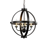 Signature 4 Light 19 inch Rubbed Oil Bronze Pendant Ceiling Light