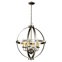 Trans Globe Signature 6 Light Pendant in Brushed Nickel 70596-BN