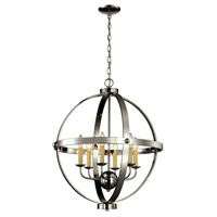 Signature 6 Light 24 inch Polished Chrome Pendant Ceiling Light