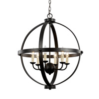 Trans Globe Old World 6 Light Pendant in Rubbed Oil Bronze 70596-ROB