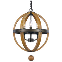 Woodland 3 Light 15 inch Weathered Bronze Pendant Ceiling Light