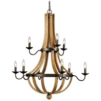 Trans Globe Lighting 70609 Woodland 9 Light 34 inch Weathered Bronze Chandelier Ceiling Light photo thumbnail