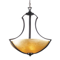 Signature 3 Light 22 inch Antique Bronze Pendant Ceiling Light