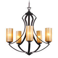 Trans Globe Signature 5 Light Chandelier in Antique Bronze 70635-ABZ