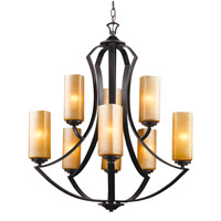 Trans Globe Signature 9 Light Chandelier in Antique Bronze 70639-ABZ