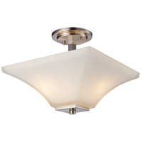 Trans Globe Lighting 70643-BN Cameo 2 Light 13 inch Brushed Nickel Semiflush Ceiling Light