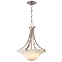 Trans Globe Lighting 70644-BN Cameo 2 Light 14 inch Brushed Nickel Pendant Ceiling Light