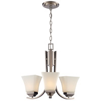 Trans Globe Lighting 70646-BN Signature 3 Light 17 inch Brushed Nickel Chandelier Ceiling Light