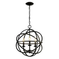 Signature 3 Light 16 inch Rubbed Oil Bronze Pendant Ceiling Light