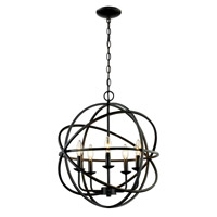 Signature 5 Light 20 inch Rubbed Oil Bronze Pendant Ceiling Light