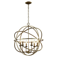 Trans Globe Signature 3 Light Pendant in Antique Silver Leaf 70656-ASL