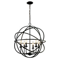 Signature 6 Light 24 inch Rubbed Oil Bronze Pendant Ceiling Light