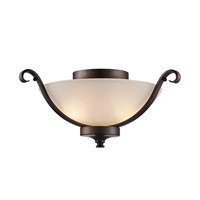 Signature 2 Light 14 inch Rubbed Oil Bronze Flush Mount Ceiling Light