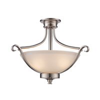 Signature 2 Light 18 inch Brushed Nickel Semi Flush Mount Ceiling Light