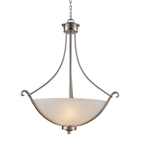 Trans Globe Signature 3 Light Pendant in Brushed Nickel 70664-BN