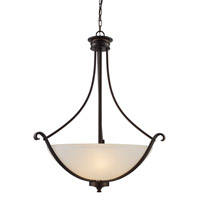 Signature 3 Light 25 inch Rubbed Oil Bronze Pendant Ceiling Light
