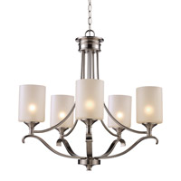 Signature 5 Light 28 inch Brushed Nickel Chandelier Ceiling Light