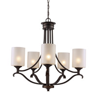 Signature 5 Light 28 inch Rubbed Oil Bronze Chandelier Ceiling Light