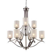 Trans Globe Signature 9 Light Chandelier in Brushed Nickel 70669-BN