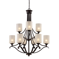 Trans Globe Signature 9 Light Chandelier in Rubbed Oil Bronze 70669-ROB