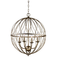 Trans Globe Lighting 70674-ASL Sequoia 4 Light 20 inch Rubbed Oil Bronze Pendant Ceiling Light in Antique Silver Leaf