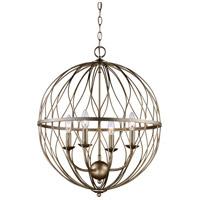Trans Globe Lighting 70674-ASL Sequoia 4 Light 20 inch Rubbed Oil Bronze Pendant Ceiling Light