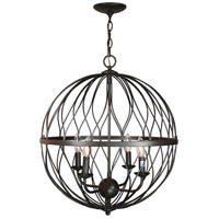 Sequoia 4 Light 20 inch Rubbed Oil Bronze Pendant Ceiling Light