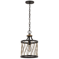 Trans Globe Lighting 70690-ROB Signature 1 Light 10 inch Rubbed Oil Bronze Mini Pendant Ceiling Light