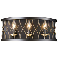 Trans Globe Lighting 70693-ROB Tahoe 3 Light 18 inch Rubbed Oil Bronze Wall Sconce Wall Light