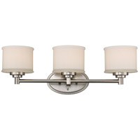 Cahill 3 Light 24 inch Brushed Nickel Vanity Bar Wall Light