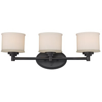 Cahill 3 Light 24 inch Rubbed Oil Bronze Vanity Bar Wall Light