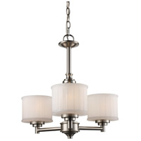 Trans Globe Lighting 70726-BN Cahill 3 Light 20 inch Brushed Nickel Chandelier Ceiling Light