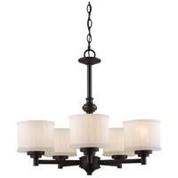 Trans Globe Lighting 70728-ROB Cahill 5 Light 24 inch Rubbed Oil Bronze Chandelier Ceiling Light