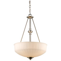 Trans Globe Lighting 70729-1-BN Cahill 3 Light 17 inch Brushed Nickel Pendant Ceiling Light