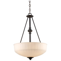 Trans Globe Lighting 70729-1-ROB Cahill 3 Light 17 inch Rubbed Oil Bronze Pendant Ceiling Light
