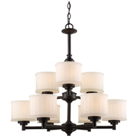 Trans Globe Lighting 70729-ROB Cahill 9 Light 28 inch Rubbed Oil Bronze Chandelier Ceiling Light