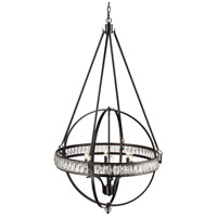 Trans Globe Lighting 70756-ROB Elan 6 Light 31 inch Rubbed Oil Bronze Pendant Ceiling Light