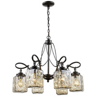 Moore 6 Light 25 inch Antique Bronze Chandelier Ceiling Light