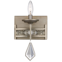 Antique Silver Leaf Metal Wall Sconces