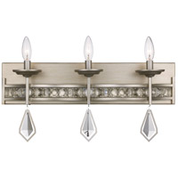 Eli 3 Light 23 inch Antique Silver Leaf Vanity Bar Wall Light